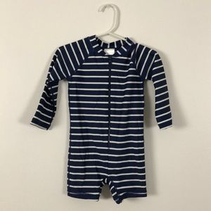Hanna Andersson 18-24M Navy Striped Swimsuit